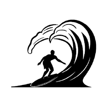 riding the big waves car bonnet sticker side graphic Car Window Bumper Novelty JDM Drift Vinyl Decal Sticker image