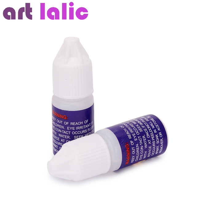 Nail Art Glue Tips Glitter UV Acrylic Rhinestones Decoration With ...