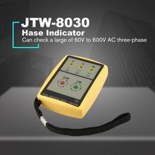 JTW JTW-8030 Портативный 3 чередования фаз метр Цифровой мультиметр присутствие вращения тестер фазы индикатор детектор метр светодиодный зуммер