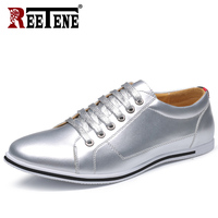 REETENE 2018 New Casual Men Shoes High Quality Patent Leather Shoes For Men Fashion Casual Men Flats Men Sneakers Zapatos