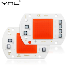 Cob led 성장 빛 전체 스펙트럼 칩 필요 없음 드라이버 ac 220 v 20 w 30 w 50 w 식물 빛에 대 한 초본 램프 실내 모 종 성장 램프