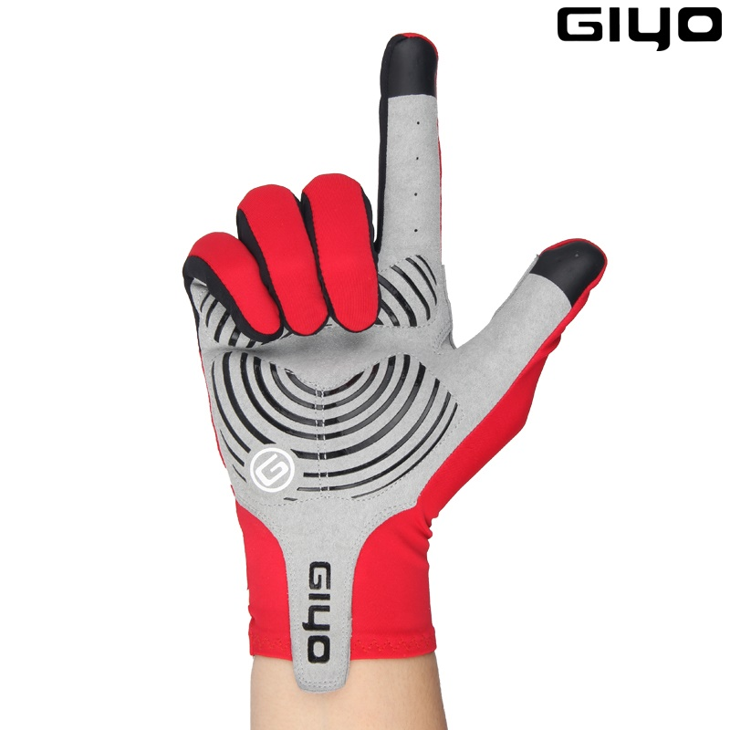 Giyo Wind Breaking Cycling Full Finger Gloves Touch Screen Anti-slip Bicycle Lycra Fabric Mittens Bicicleta Road Bike Long Glove giyo touch screen non slip breathable long gloves bike bicycle cycling cycle full finger ciclismo luvas gloves smartphone