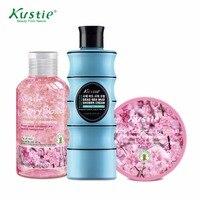Kustie Promotion Set Cherry Blossom 100ml Shower Gel 100ml Cherry Blossom Body Scrub 100ml Dead Sea