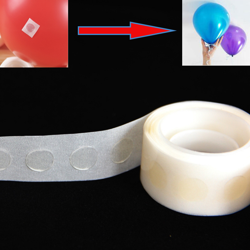 2 Pcs Removable Adhesive Glue Dot Foil Balloon Wedding Birthday Decor Tape New