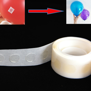 100pcs Balloons Glue Adhesive Wedding Birthday party decoration Fixed Clip ballon Dot Super Sticky Point Double Sided Stick tape(China)