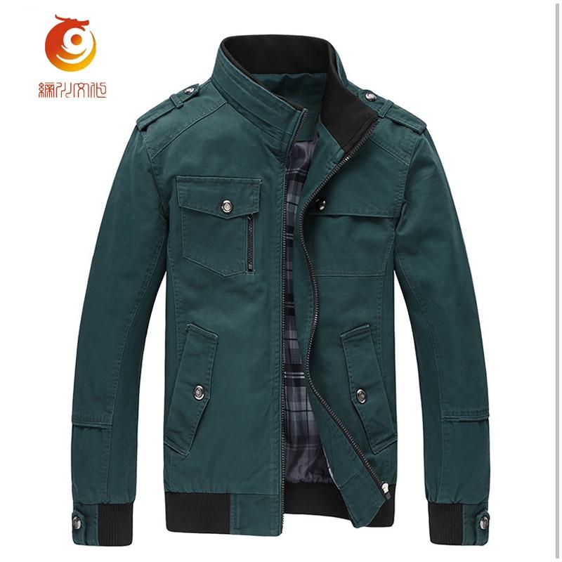Coton 2017 Green Couleur Fit Grande Nouveau Slim army Multiples 3xl Solide Taille Hommes kaki Mode Automne Veste De Décontractée Poches Noir vert r4q8rw