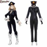 Cosplaydiy My Hero Academia Boku no Hero Akademia Cosplay Camie Utsushimi Black Suits Hat Halloween Costume Outfit Custom Made