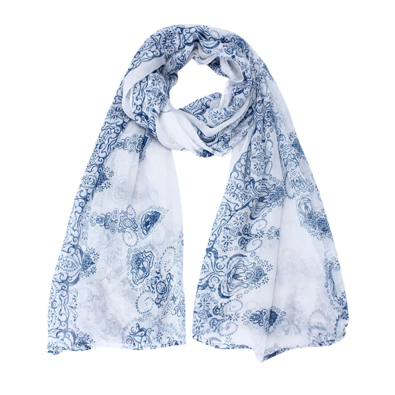 0cf5620195cec Fashion Print Women Scarves New Design Ladies Solid Color White,Navy,Green,Pink  Shawl Female Bufanda Mujer Voile New Arrival2018