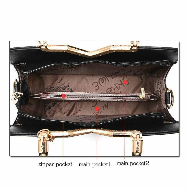ฤดูร้อนใหม่ผู้หญิงกระเป๋าถือของแข็งหญิงไหล่หญิงซิป Casual หนังผู้หญิง Messenger Crossbody กระเป๋า