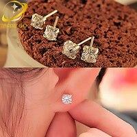 rhinestone geometric earrings for women korean earrings fashion jewelry brincos boucle d'oreille femme crystal stud earing