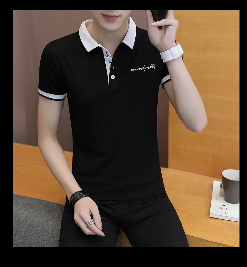 Short-sleeved T-shirt men's fashion casual cotton clothes decorated with multi-color optional 92