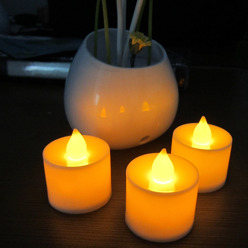 Home & Garden Home Decor Reliable 24pcs Yellow Flicker Flameless Led Electric Battery Powered Tealight Candles Holiday/wedding Decoration Big Votive Candles
