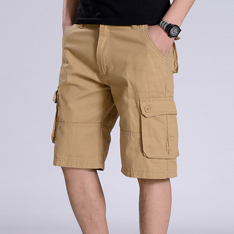 short khaki pants - Pi Pants