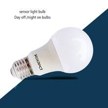 E27 5/9/12/18W LED Sensor Light Bulb Dusk to Dawn Light Bulbs 85V 265V Day Night Light Automatic On/Off Sensor Lamp Garden
