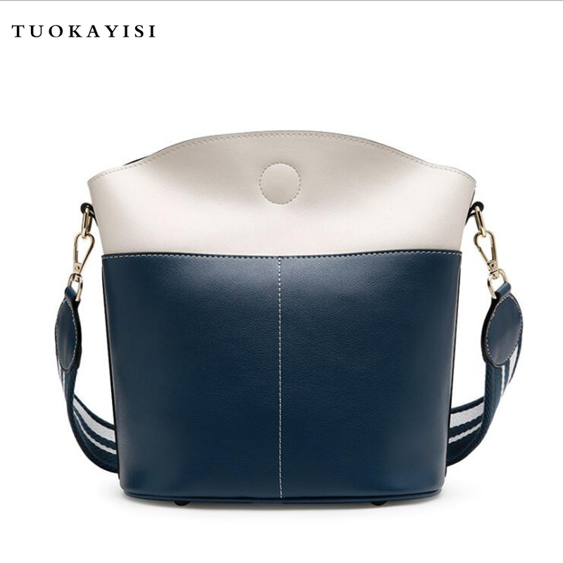 Casual Tote Women bag with Colorful Strap Bucket Bag Women Leather Shoulder Bags Brand Designer Ladies Crossbody messenger Bags monfere 100% genuine leather bucket bag women 2018 casual top handle shoulder bags brand designer ladies crossbody messenger bag