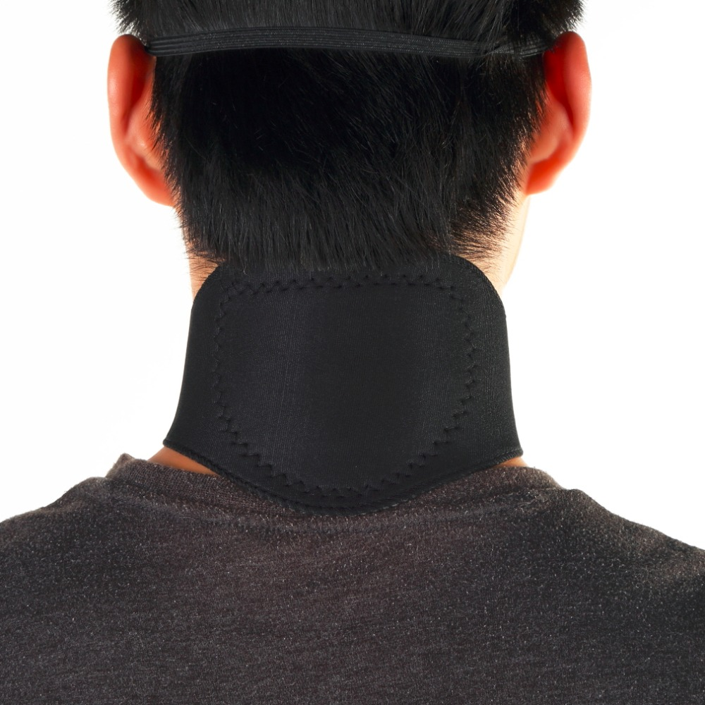 Magnetic Therapy Neck Support Protection Spontaneous Tourmaline Heating Headache Belt Neck Massager Drop Shipping hot цена