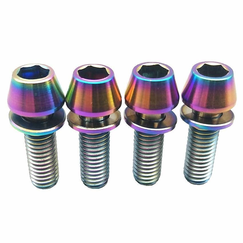 Titanium M5 x 40mm Tapered Ti Bolt Taper Hex Allen Socket Head Screw GR5