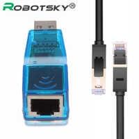 USB 2.0 A LAN RJ45 Ethernet 10/100Mbps Adattatore di Scheda di Rete USB per RJ45 Ethernet Converter Per Win7 win8 Tablet PC Del Computer Portatile