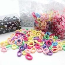 100 шт./лот, Детские аксессуары для волос, резинки для волос, резинки для волос