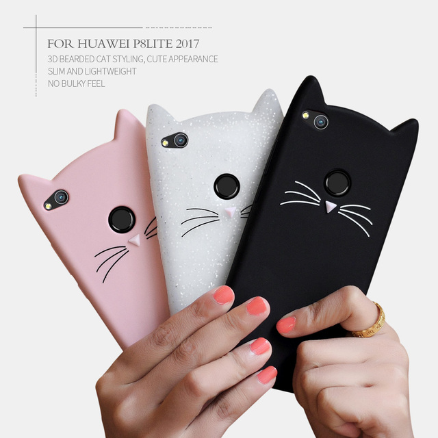 coque huawei p10 chat 3d