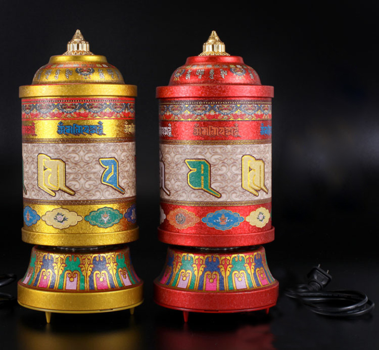 US $176 99  With 1 Million Times Of Mantra Om Mani Padme Hum & 41 Buddhist  Alokhe Songs, Electric Prayer Wheel, Buddha Supply, For Worship-in