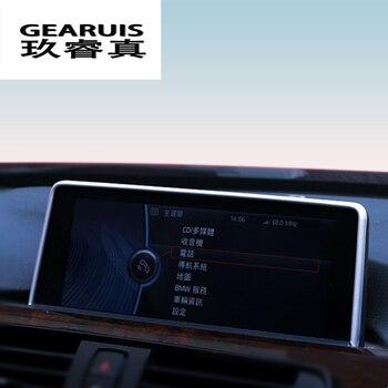 Car Styling di Navigazione Cornice Decorativa Striscia Coperture Adesivi Trim Per BMW 1 2 3 4 Serie F22 Coupe F20 F30 f34 Accessori auto