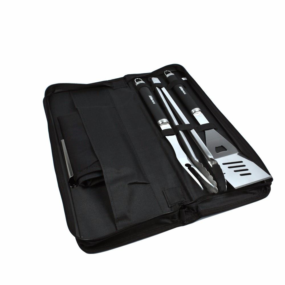 5 pièces par ensemble spatule fourchette pince avec sac en Nylon Barbecue gril outils pour Barbecue extérieur accessoires de cuisson