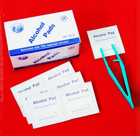 20pcs/lot 75% Alcohol Prep Swap Pad Wet Wipe For Out Door Care Skin Cleaning Care Jewelry Mobile Phone Clean Your Doctor ..