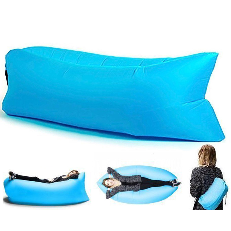 Lazy Sofa Foldable Lounger Outdoor Inflatable Sofa Adult Laybag fast Air Sleeping Bed Picnic Beach Mountaineering Sports travel lazy sofa wholesale air ounger bag camping for beach laybag saco de dormir acampamento inflatable kaisr laybag z126
