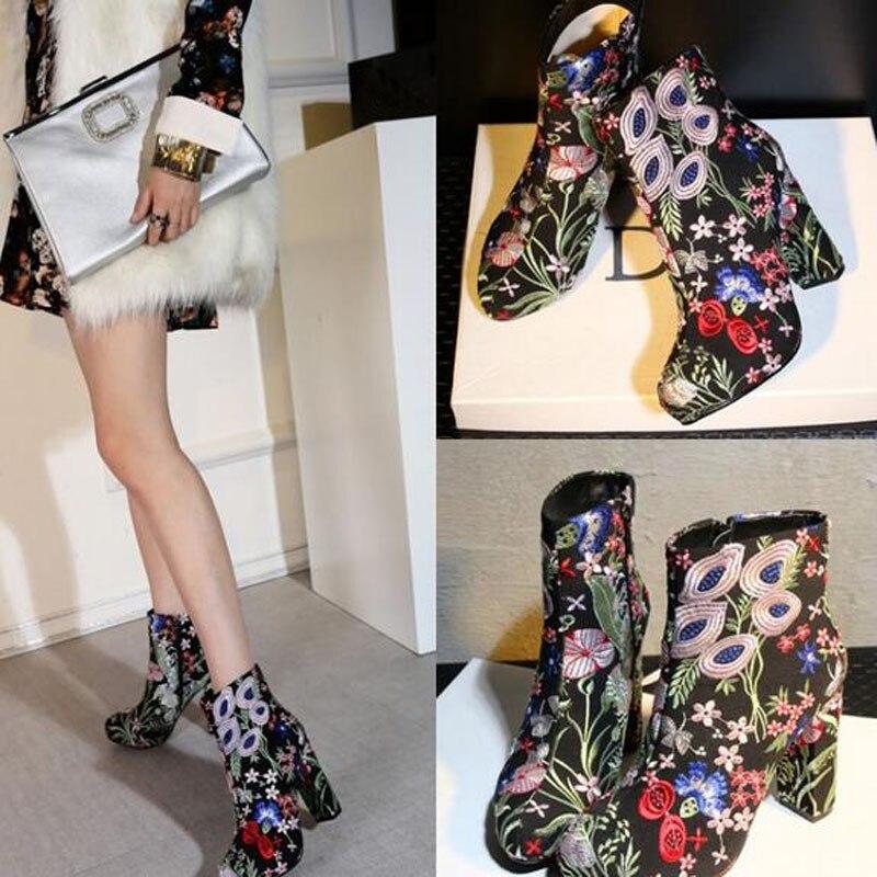 Popular Women Floral Combat Boots-Buy Cheap Women Floral Combat ...