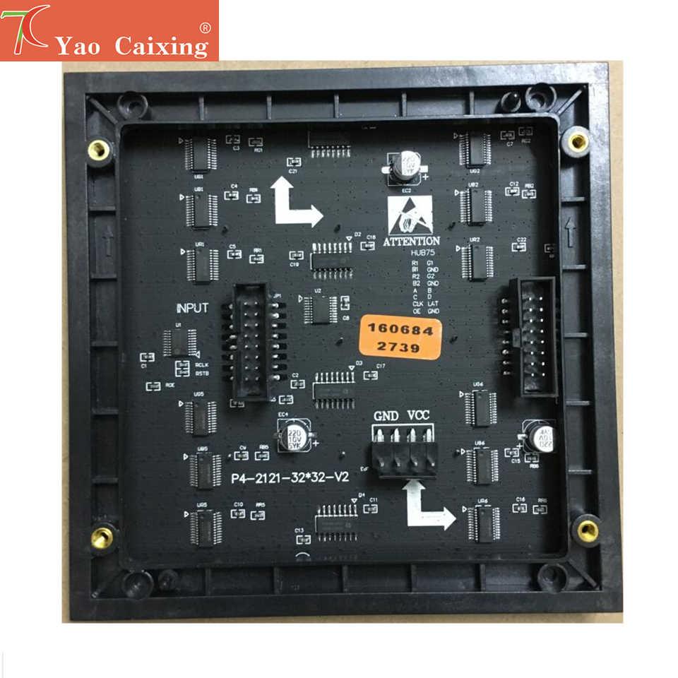 SMD2121 Dot Matrix P4 RGB LED Iklan Layar LED Modul Papan 32X32 Piksel Resolusi Tinggi Hub75 Antarmuka Tampilan LED TV