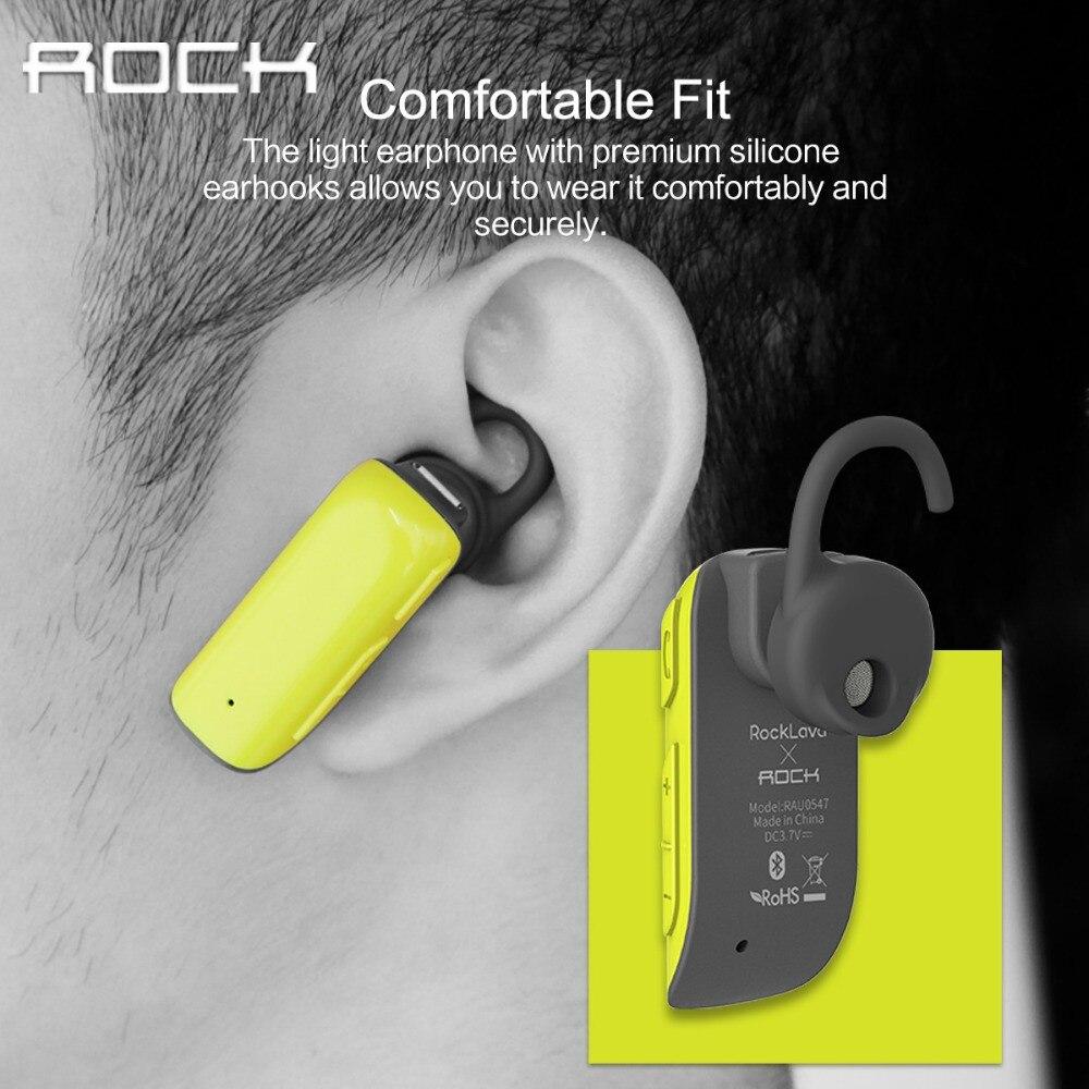 Rock d200 bluetooth mono auriculares inalámbricos con cancelación de ruido auric