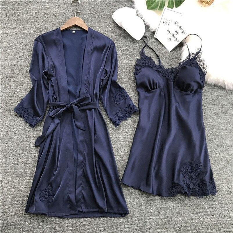 67eb562a062e Подробнее Обратная связь Вопросы о Женская мода пижамы однотонные ...