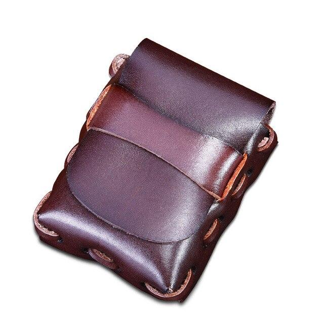Small Vintage Men Genuine Leather Cowhide Cigarette Belt Bag Casual Fanny Bag Handmade Gifts Waist Pack