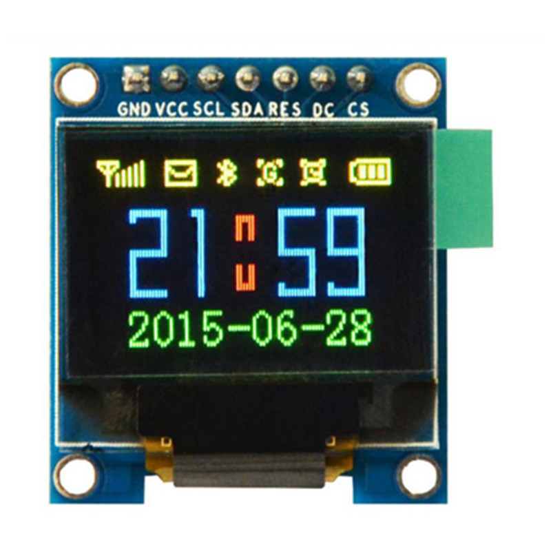 Free Shipping 0.95 inch 7pin Full Color 65K Color ssd1331 OLED Display 3.3v 5v Serial SPI Small LCM Module for 51