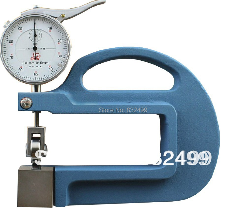 цены Dial continuous thickness Gauge for paper ,film, leather (Resolution 0.01MM depth 100mm)