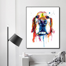 Watercolor Dog Nordic Decoration Canvas Painting Calligraphy Prints Pictures Posters For Bedroom Living Room Home Wall Decor Art