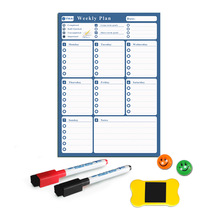 Weekly-Schedule Magnetic-Board Dry-Erase YIBAI for School Home Refrigerator Available-42--30cm
