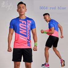 ФОТО kunli 2018 new men's women's tennis shirt outdoor sports  clothing running badminton clothing basketball short t-shirt shirt