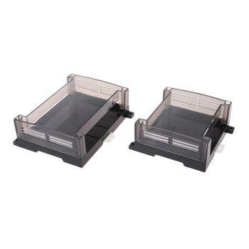 Transparent Plastic PLC Industrial Control Box Panel PLC Enclousure Case DIY PCB Shell 'lrz цена 2017