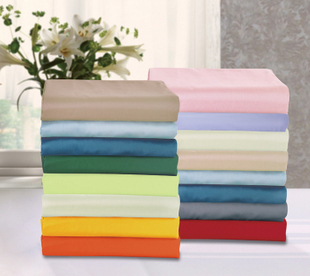 Qqingo 100% cotton solid color thickening bed sheets laguan