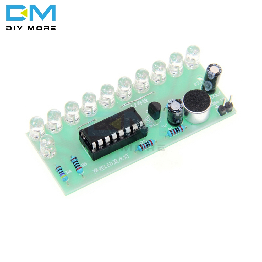 Voice-activated LED Water Light Kit CD4017 Lantern Control Fun Electronic Production Teaching Training Diy Electronic Kit Module