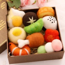 Cartoon Sushi Wool Felt Prick Pokes Fun to Decompress Small Toy Lovers Doll Material Package Creative Embroidery Handmade