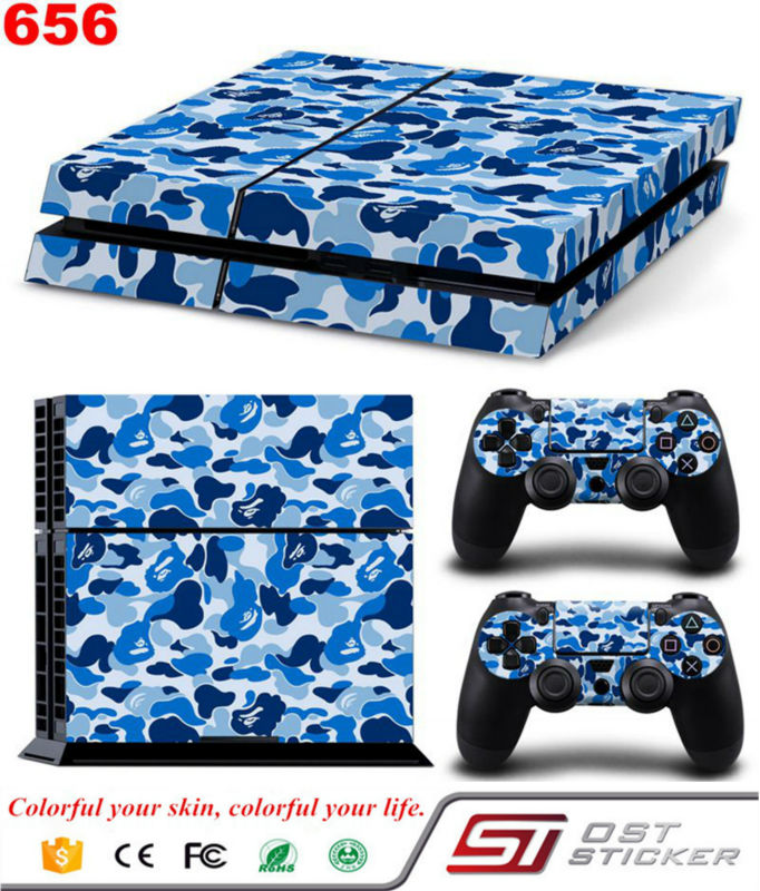 OSTSTICKER Games Accessories Vinly Decal Skin Protector Sticker Controller For Ps4 Stickers For Ps 4 Skins Cover