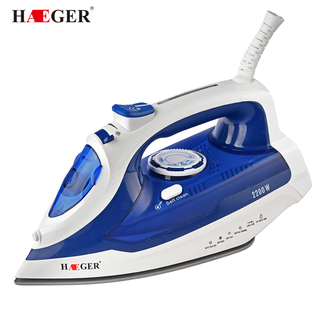 Colorful 2200w Portable Electric Steam Iron For Clothes High Quality Three Gears Ceramic Soleplate