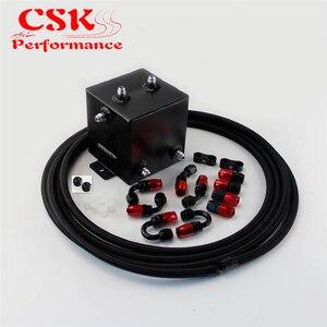 Image 4 - 2 Litre cilalı komple yakıt dalgalanma tankı girdap Pot sistemi W/yağ hortumu + parçaları