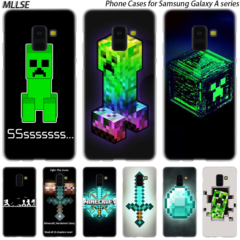 Half-wrapped Case Phone Bags & Cases Mllse Minecraft Time Hard Case For Samsung Galaxy A10 A20 A30 A40 A50 A70 A20e A2 Core M10 M20 M30 Hot Fashion Cover Possessing Chinese Flavors