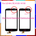"""Black 4.5"""" Phone For LG K4 LTE K120 K130 Touch Screen Touch Panel Digitizer Sensor Front Glass Lens Tracking Code Free Shipping"""