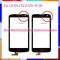 "Negro 4.5 ""teléfono para lg k4 lte k120 k130 delante del sensor de panel táctil pantalla táctil digitalizador lente de cristal código de seguimiento del envío libre"
