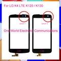 """Preto 4.5 """"telefone para lg k4 lte k120 k130 sensor de tela de toque do painel de toque digitador frente lente de vidro código de rastreamento frete grátis"""